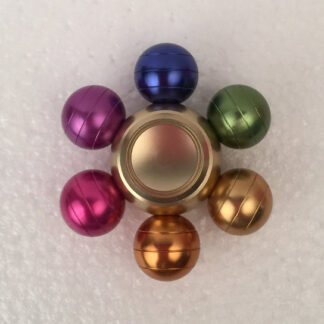 Multifarvet justerbar metalspinner