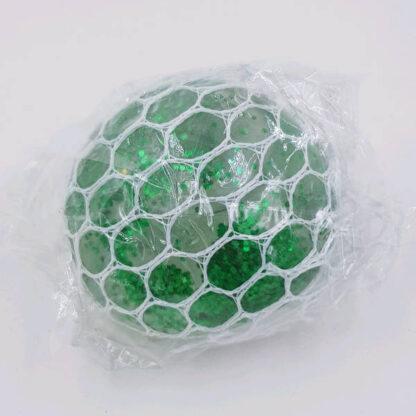 Stressbold med gelé i net grøn