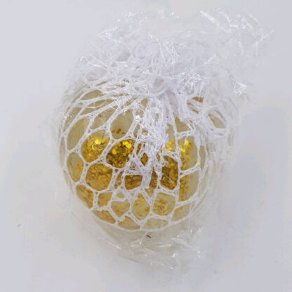 Stressbold med gelé i net guld