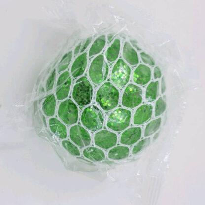 Stressbold glimmer vandperler grøn