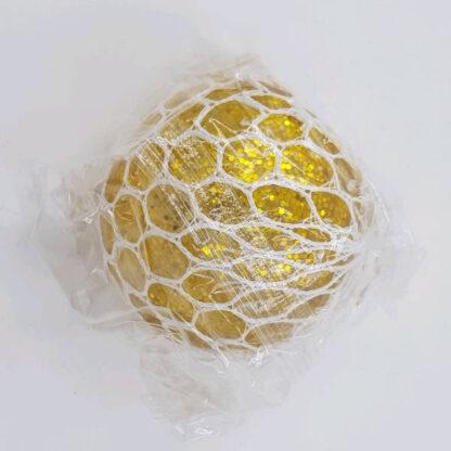 Stressbold glimmer vandperler guld