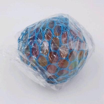 Stressbold vandperler blå med net