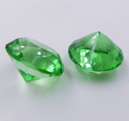 Lysegrøn pastelfarvet diamant-krystal-glas-acryl 4cm