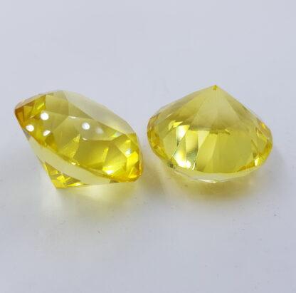 Gul pastelfarvet diamant-krystal-glas-acryl 4cm