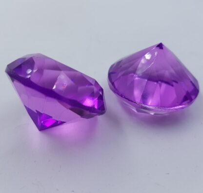Lilla pastelfarvet diamant-krystal-glas-acryl 4cm