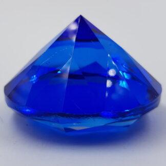 Stor blå diamant-6cm krystal