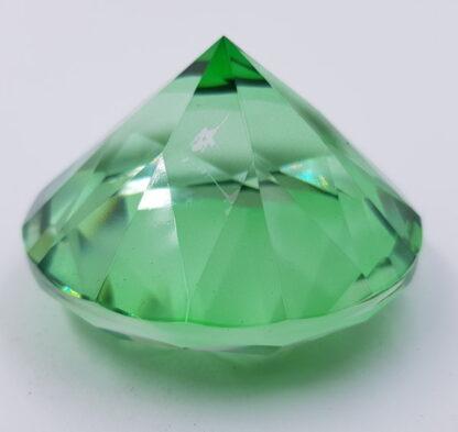 Stor grøn diamant-6cm krystal