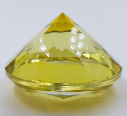 Stor gul diamant-6cm krystal