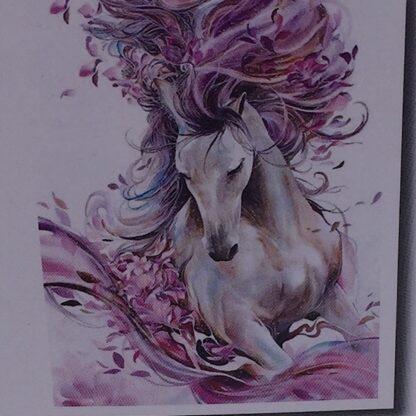 Diamond painting smuk hvid hest