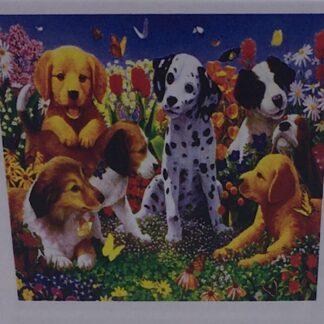 Diamond painting søde hundehvalpe