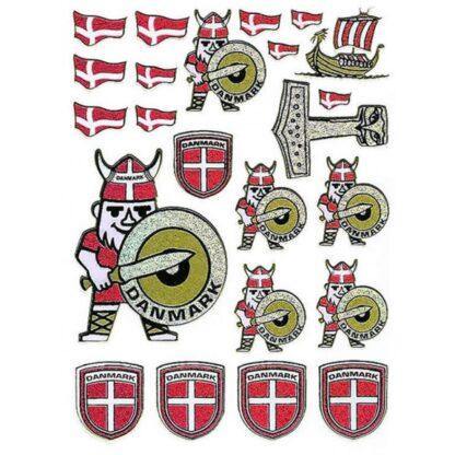 40 stickers danske vikinger sjov