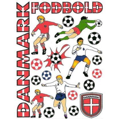 44 stickers Danmark fodbold sjov