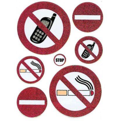 56 stickers danske forbuds skilte sjov