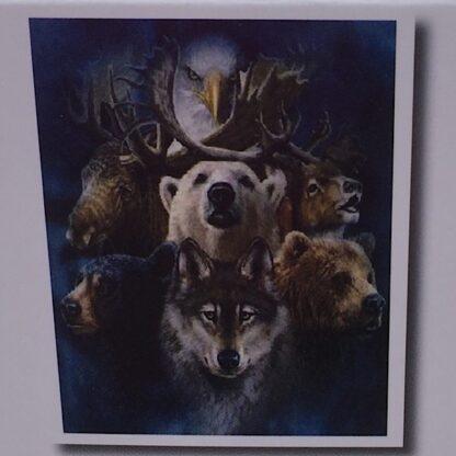Diamond painting bjørne og ulve