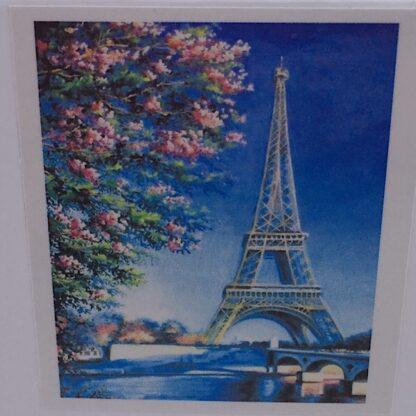 Diamond painting Eiffeltårnet forår i Paris