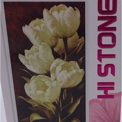 Diamond painting hvide tulipaner