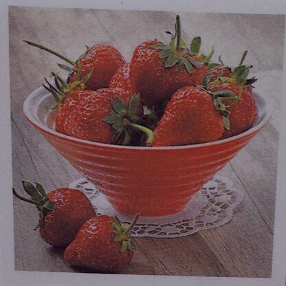Diamond painting skål med jordbær