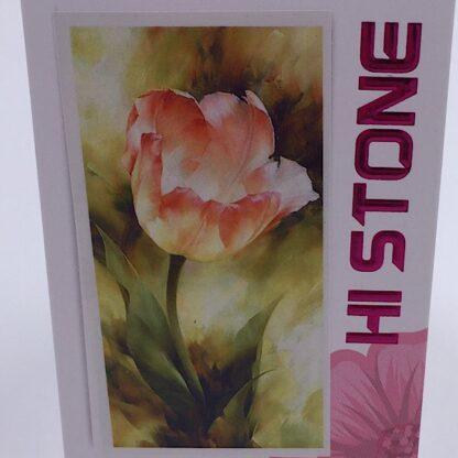Diamond painting smuk lyserød tulipan