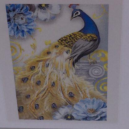 Diamond painting smuk påfugl