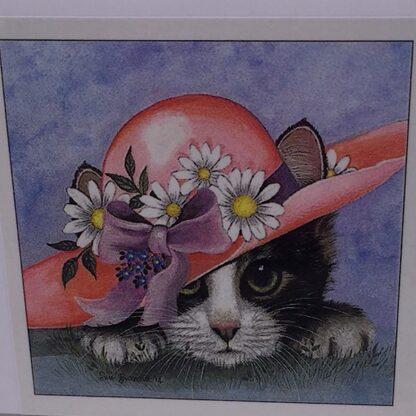 Diamond paintin sød kat med hat