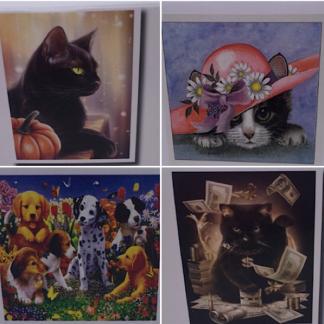 Diamond painting søde katte og hunde