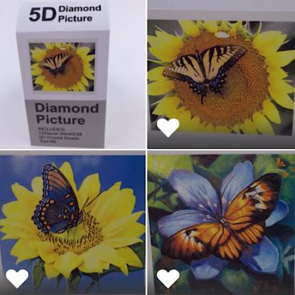 Diamond painting sommerfugle
