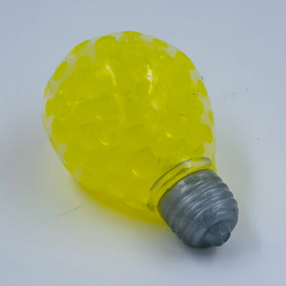 Elpære stressbold gul med vandperler