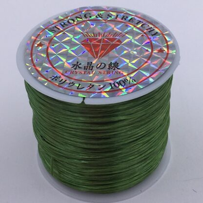 Fiberelastik stærk elastik til smykkefremstilling grøn