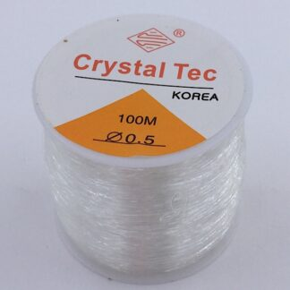 Klar silikoneelastik 0,5 mm. på en 100 meter rulle