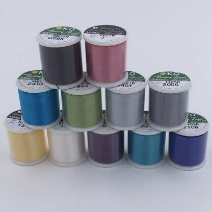 Miyuki smykke tråd mange farver