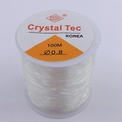 Silikoneelastik klar 0,8 mm. 100 på en rulle