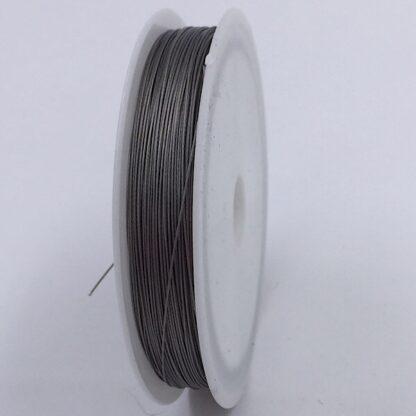 Tigertail wire smykketråd grå coated