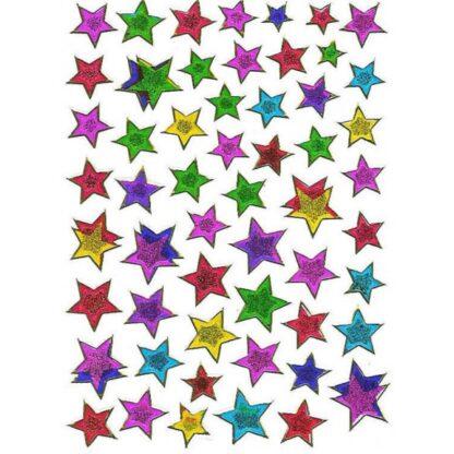 11 stickers multifarvede stjerner sjov