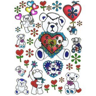 17 stickers kærlig bamse sjov