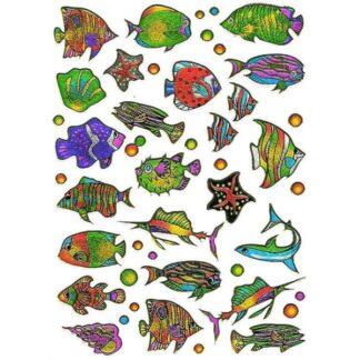 21 stickers eksotiske fisk sjov