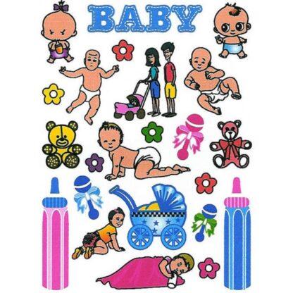 28 stickers baby sjov