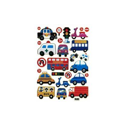 46 stickers biler bus udryknings køretøjer sjov