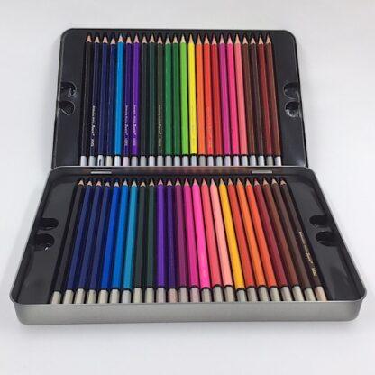 48 farveblyanter i metalæske til tegning og farvelægning