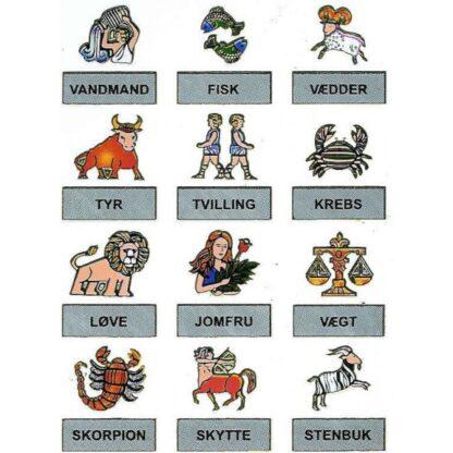 53 stickers stjernetegn sjov