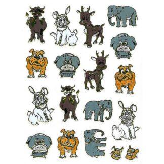 59 stickers hunde og andre dyr sjov