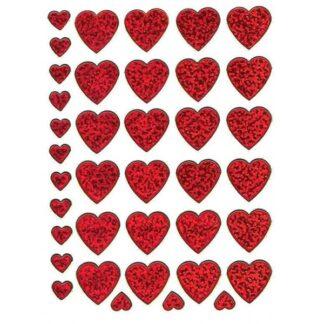 6 stickers røde hjerter romantiske sjov