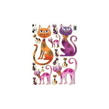 68 stickers kat med sløjfe sjov