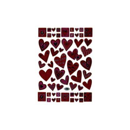 76 stickers hjerter love sjov