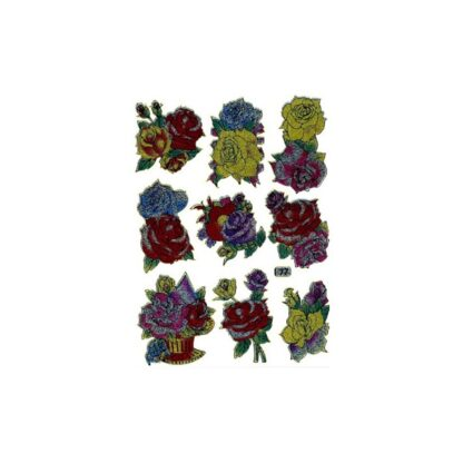 77 stickers multifarve roser sjov