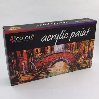 Akrylmaling med 48 forskellig farver