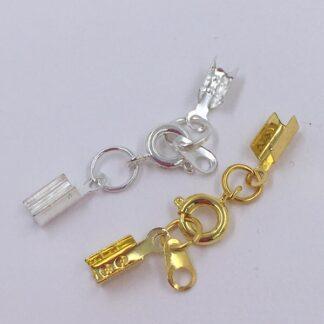 Cirkellåse med klemme endestykker Guld eller sølv
