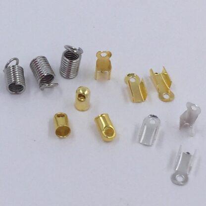Endestykker til smykkefremstilling armbånd eller halskæder