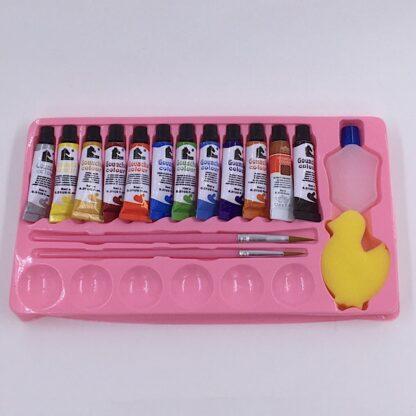 Gouache Water Colours inkl. 2 pensler andesvamp, vandbeholder