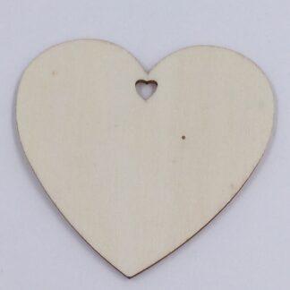 Hjerte til og fra kort i træ