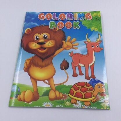 Malebog til børn med løve på forsiden